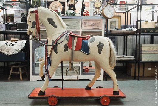 Винтажные куклы и игрушки. Ярмарка Мастеров - ручная работа. Купить Винтажный конь. Handmade. Комбинированный, винтажная игрушка, конь