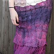 Одежда ручной работы. Ярмарка Мастеров - ручная работа Двусторонняя безшовная шелковая юбка ручной работы. Handmade.
