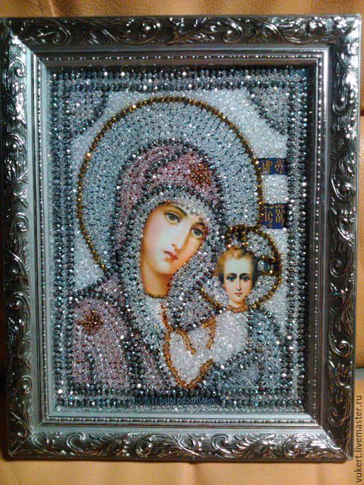 Образ в каменьях Богородица Казанская
