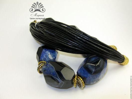"""Колье, бусы ручной работы. Ярмарка Мастеров - ручная работа. Купить Колье """"Индиго"""". Handmade. Синие камни"""