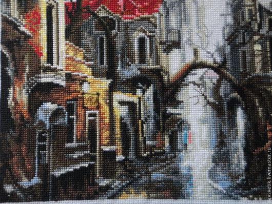 """Город ручной работы. Ярмарка Мастеров - ручная работа. Купить Картина"""" В тумане"""". Handmade. Картина, подарок на любой случай"""