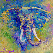 Картины и панно handmade. Livemaster - original item Picture an elephant