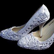 Обувь ручной работы. Ярмарка Мастеров - ручная работа Вязанные нарядные туфли. Handmade.