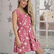 """Одежда ручной работы. Ярмарка Мастеров - ручная работа Платье """"Вивьен"""" pink. Handmade."""