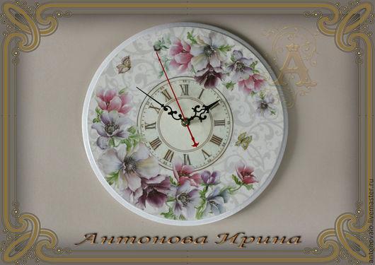 """Часы-""""Романтика"""",для дома ручной работы. Антонова Ирина.Ярмарка Мастеров."""