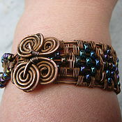 Bead bracelet handmade. Livemaster - original item Copper bracelet