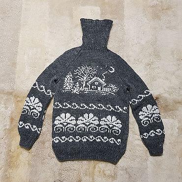 """Одежда ручной работы. Ярмарка Мастеров - ручная работа Женский вязаный свитер """"Охотничий домик"""" 48-50 размер. Handmade."""