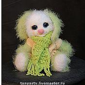 Куклы и игрушки ручной работы. Ярмарка Мастеров - ручная работа зайка Манюня. Handmade.