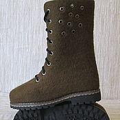 Обувь ручной работы. Ярмарка Мастеров - ручная работа Войлочные сапожки Мыльные пузыри. Handmade.