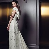 Одежда handmade. Livemaster - original item Exclusive! Dress with flounce on the shoulders. Handmade.
