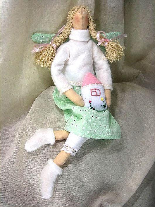 Куклы Тильды ручной работы. Ярмарка Мастеров - ручная работа. Купить Фея домашнего уюта. Handmade. Фея, хлопок