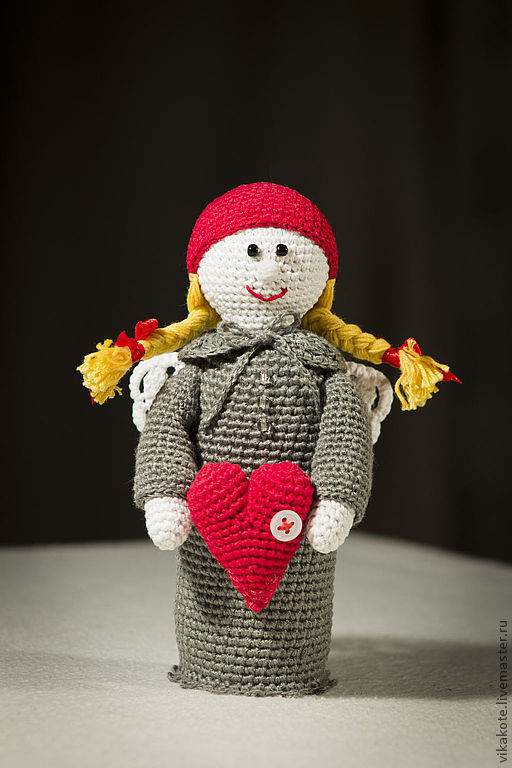 Человечки ручной работы. Ярмарка Мастеров - ручная работа. Купить сердеШный ангел. Handmade. Подарок на 14 февраля, сердце, любимому