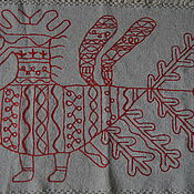 Для дома и интерьера handmade. Livemaster - original item Hand weaving, embroidery-towel