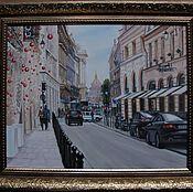 Картины ручной работы. Ярмарка Мастеров - ручная работа День в Париже. 40х50см. Handmade.
