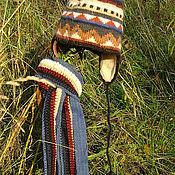 Работы для детей, ручной работы. Ярмарка Мастеров - ручная работа Детская вязаная шапочка и шарф с орнаментом. Handmade.