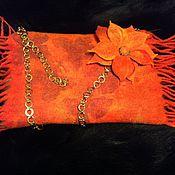 Аксессуары ручной работы. Ярмарка Мастеров - ручная работа Оранжевая муфта. Handmade.