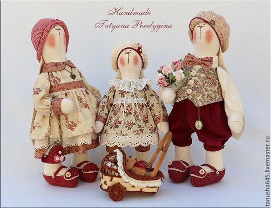 Куклы Тильды ручной работы. Ярмарка Мастеров - ручная работа. Купить Зайцы.Просто зайцы.. Handmade. Зайцы, интерьерная кукла