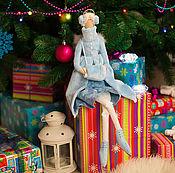 Куклы и игрушки ручной работы. Ярмарка Мастеров - ручная работа Тильда-фигуристка (Ice skating angel). Handmade.