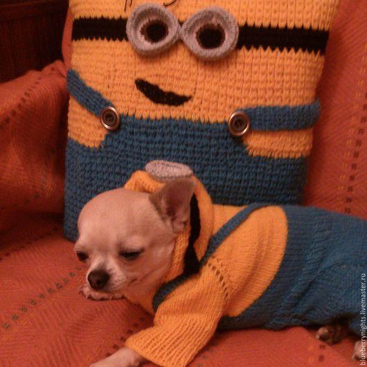 """Одежда для собак, ручной работы. Ярмарка Мастеров - ручная работа. Купить Комбинезон для чихуа """" Миньон """". Handmade. Комбинированный"""
