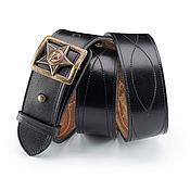 handmade. Livemaster - original item Leather men`s belt