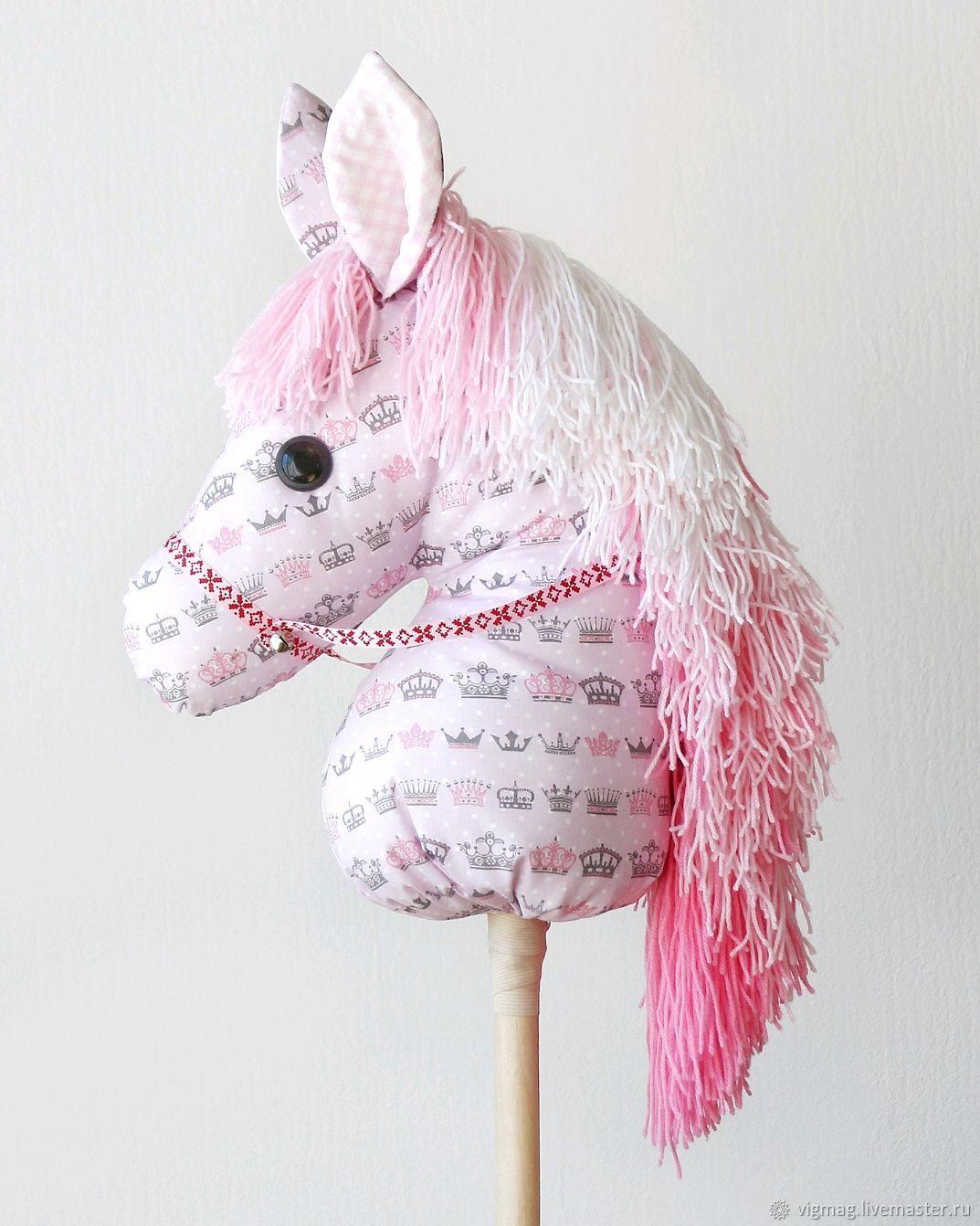 Лошадка на палочке, Мягкие игрушки, Иваново,  Фото №1