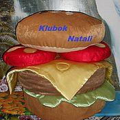 Для дома и интерьера ручной работы. Ярмарка Мастеров - ручная работа Пуфик- сандвич. Handmade.