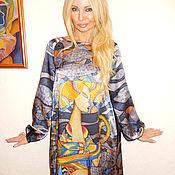 Одежда ручной работы. Ярмарка Мастеров - ручная работа платье- Синяя птица(петушок). Handmade.