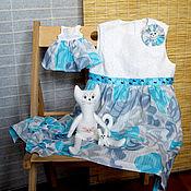 Работы для детей, ручной работы. Ярмарка Мастеров - ручная работа Летнее платье для девочки и кошечка - сшито на заказ. Handmade.