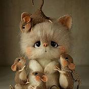 Куклы и игрушки ручной работы. Ярмарка Мастеров - ручная работа Черничная компания. Игрушка из войлока.. Handmade.