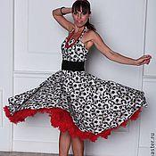 """Одежда ручной работы. Ярмарка Мастеров - ручная работа Платье в ретро стиле """"Футбол и Я"""". Handmade."""