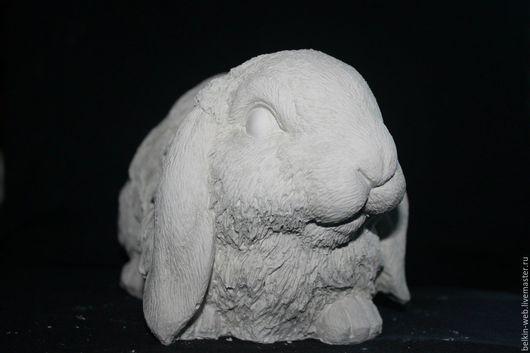 """Декупаж и роспись ручной работы. Ярмарка Мастеров - ручная работа. Купить Гипсовая фигурка """"Кролик"""". Handmade. Белый, кролик"""