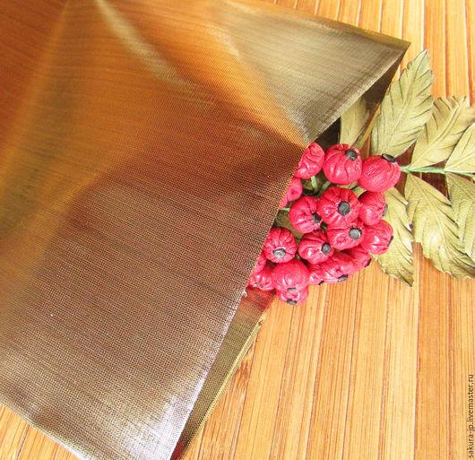 Тафта Black Gold (черное золото). Японская ткань для цветов. САКУРА - материалы для цветоделия.