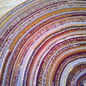 Для дома и интерьера ручной работы. Ярмарка Мастеров - ручная работа Коврик круглый пестрый. Handmade.