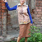 Одежда ручной работы. Ярмарка Мастеров - ручная работа Цельноваляный жилет. Handmade.