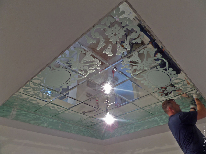 Натяжной потолок на кухню с фотопечатью точная копия