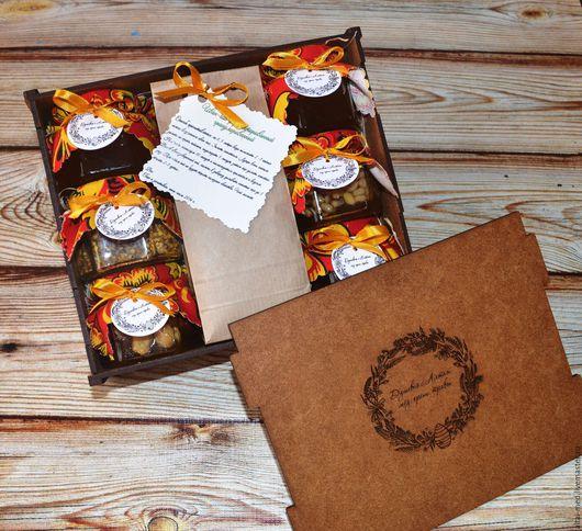 """Персональные подарки ручной работы. Ярмарка Мастеров - ручная работа. Купить Подарочный набор в деревянной коробке """"Душевное чаепитие-2"""". Handmade."""