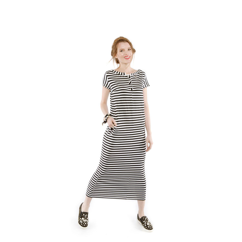 0bf1c498032 Платья ручной работы. Ярмарка Мастеров - ручная работа. Купить Полосатое трикотажное  платье миди.