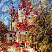 """Картина маслом """"Старая Европа.Замок Тун.Швейцария"""""""