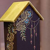 """Для дома и интерьера ручной работы. Ярмарка Мастеров - ручная работа Чайный домик в стиле """"мехенди"""". Handmade."""