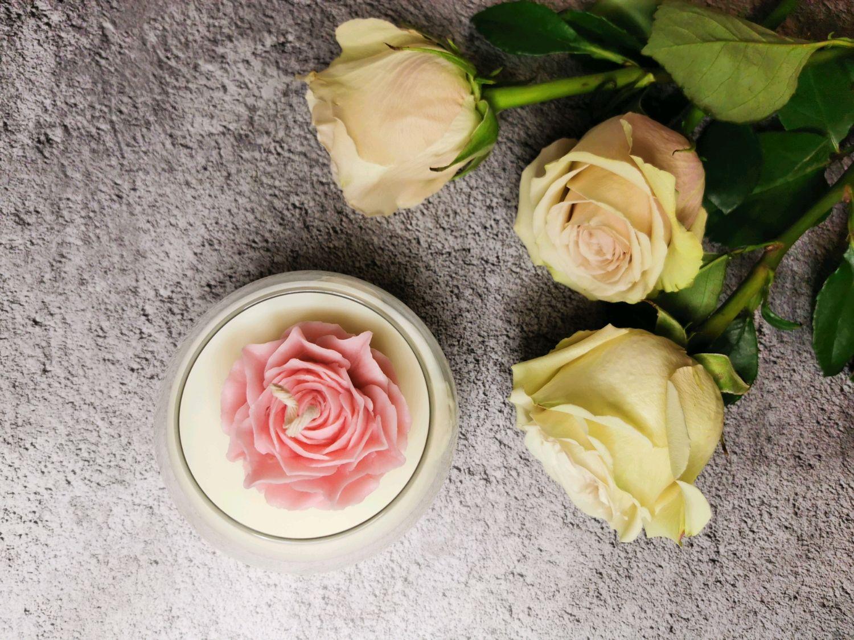 """Аромасвеча """"Роза в круглой вазе"""", Арома сувениры, Владивосток,  Фото №1"""