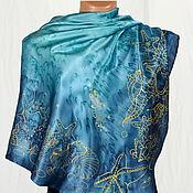Аксессуары handmade. Livemaster - original item Silk scarf batik Marina. Handmade.