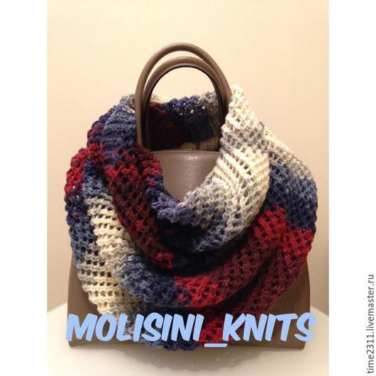 Шарфы и шарфики ручной работы. Ярмарка Мастеров - ручная работа. Купить шарф снуд Виолетта. Handmade. Снуд, шарф
