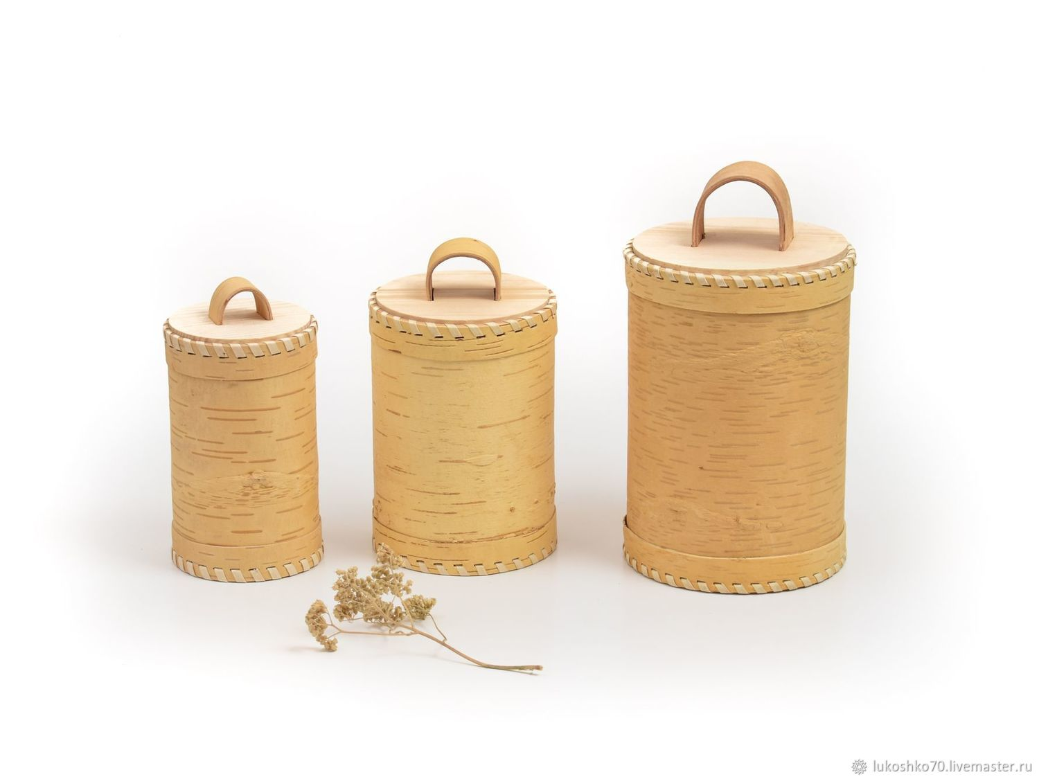 A set of clean bark containers from bark. Jar Tea Salt Sugar, Jars, Tomsk,  Фото №1