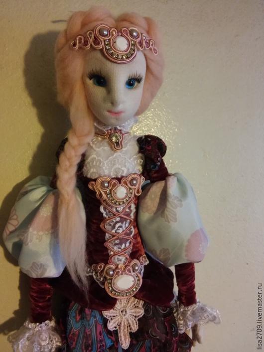 Коллекционные куклы ручной работы. Ярмарка Мастеров - ручная работа. Купить Афина текстильная кукла. Handmade. Бордовый, бархат