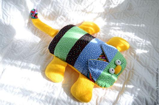 """Детская ручной работы. Ярмарка Мастеров - ручная работа. Купить Подушка-игрушка """"Кот обормот"""". Handmade. Подушка кот"""