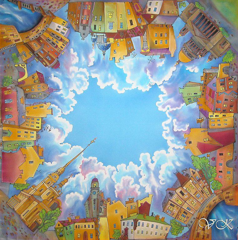 Картинки город для батика