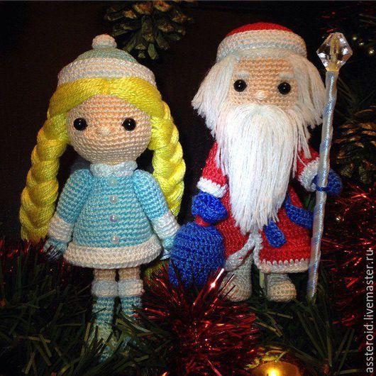 Миниатюра ручной работы. Ярмарка Мастеров - ручная работа. Купить Дед Мороз и Снегурочка. Handmade. Дед мороз, Новый Год