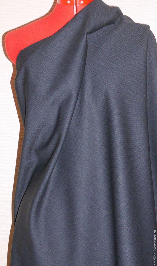 Шитье ручной работы. Ярмарка Мастеров - ручная работа. Купить Шерсть костюмная арт.025. Handmade. Тёмно-синий, ткань