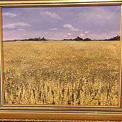 Картины ручной работы. Ярмарка Мастеров - ручная работа Картины: Необьятные степи.Масло на холсте, оргалит. Handmade.