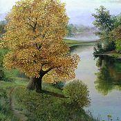 "Картины и панно handmade. Livemaster - original item Oil painting "" Autumn morning "",landscape. Handmade."